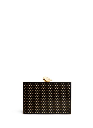 Main View - Click To Enlarge - KOTUR - 'Merrick' stud Perspex box clutch
