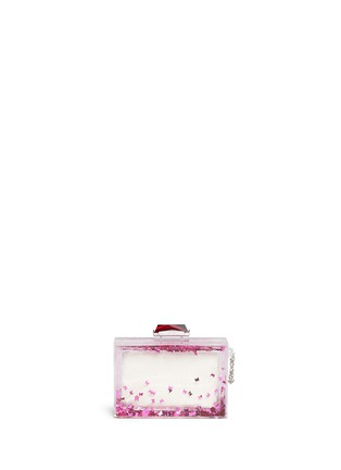 Main View - Click To Enlarge - KOTUR - 'Social Butterfly' Glitter Perspex clutch