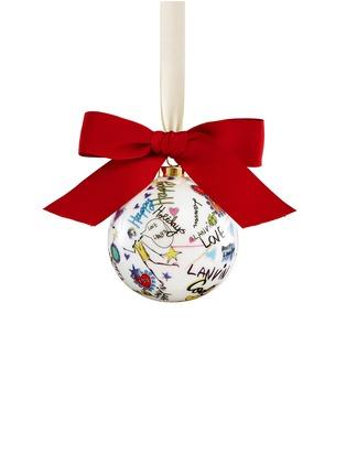 Main View - Click To Enlarge - Lanvin - Sketch print porcelain Christmas bauble