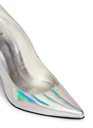 Detail View - Click To Enlarge - Stuart Weitzman - 'Nouveau' holographic leather pumps