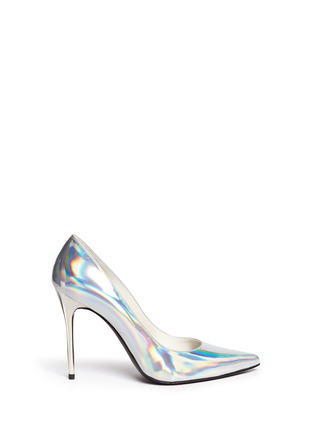 Main View - Click To Enlarge - Stuart Weitzman - 'Nouveau' holographic leather pumps