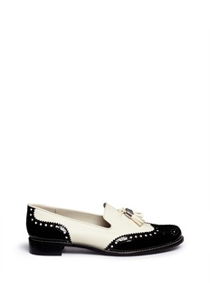STUART WEITZMAN 'Guy Thing' tassel brogue leather slip-ons