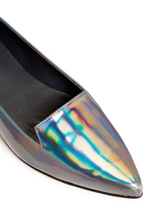 Detail View - Click To Enlarge - Stuart Weitzman - 'Rialto' holographic leather slip-ons