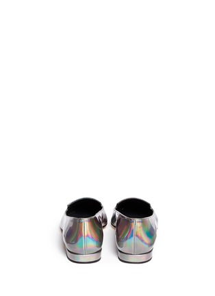 Back View - Click To Enlarge - Stuart Weitzman - 'Rialto' holographic leather slip-ons