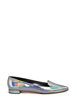 Main View - Click To Enlarge - Stuart Weitzman - 'Rialto' holographic leather slip-ons