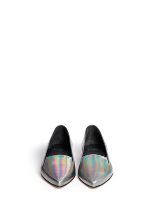 Figure View - Click To Enlarge - Stuart Weitzman - 'Rialto' holographic leather slip-ons