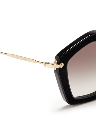 Detail View - Click To Enlarge - miu miu - 'Culte' pentagon frame acetate sunglasses