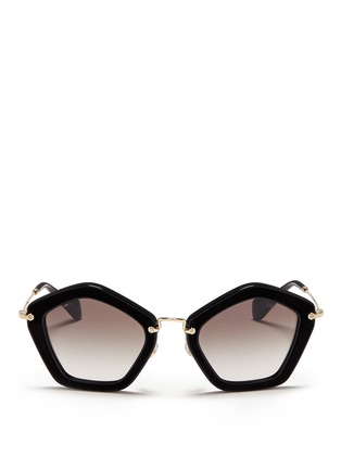 Main View - Click To Enlarge - miu miu - 'Culte' pentagon frame acetate sunglasses