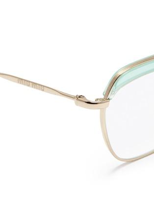 Detail View - Click To Enlarge - miu miu - Acetate brow bar wire rim optical glasses