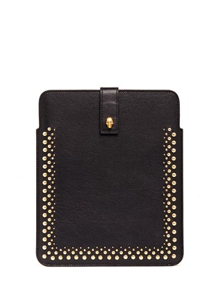 ALEXANDER MCQUEEN Skull studs leather iPad case
