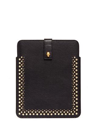 ALEXANDER MCQUEENSkull studs leather iPad case