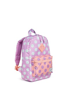 The Herschel Supply Co. Brand 'Heritage' polka dot canvas 9L kids backpack