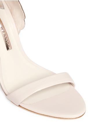 Detail View - Click To Enlarge - Sophia Webster - 'Evangeline' metallic lasercut Angel Wing leather sandals
