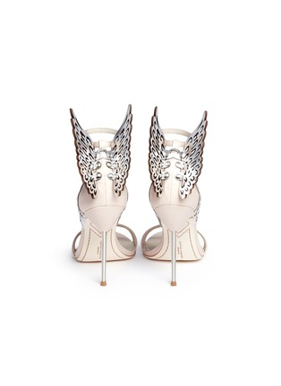 Back View - Click To Enlarge - Sophia Webster - 'Evangeline' metallic lasercut Angel Wing leather sandals