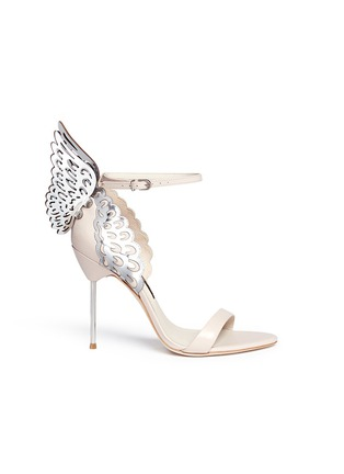 Main View - Click To Enlarge - Sophia Webster - 'Evangeline' metallic lasercut Angel Wing leather sandals