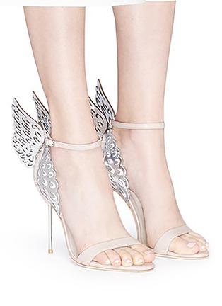 Figure View - Click To Enlarge - Sophia Webster - 'Evangeline' metallic lasercut Angel Wing leather sandals