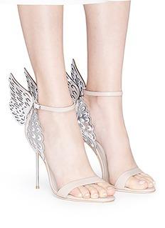 Sophia Webster 'Evangeline' metallic lasercut Angel Wing leather sandals