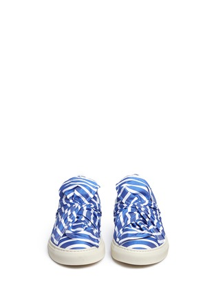 Front View - Click To Enlarge - Ports 1961 - Twist bow stripe slip-ons