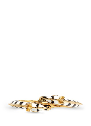 Figure View - Click To Enlarge - Kenneth Jay Lane - Enamel double zebra gold plated cuff