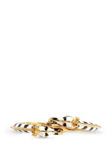 Kenneth Jay LaneEnamel double zebra gold plated cuff