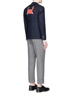Thom Browne Crab embroidered wool blazer