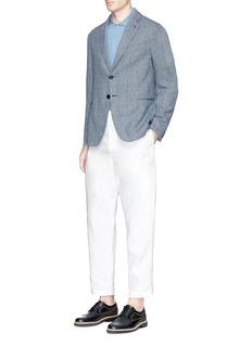 Armani CollezioniCotton-linen hopsack blazer