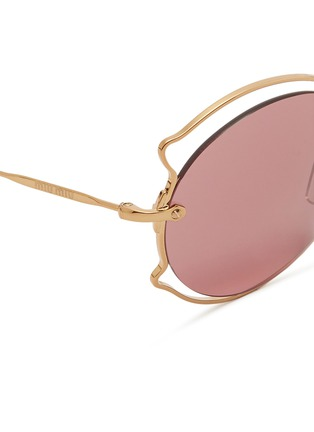 Detail View - Click To Enlarge - miu miu - Pinched wire rim sunglasses