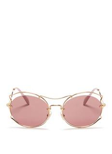 miu miuPinched wire rim sunglasses