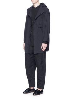 Ziggy ChenHooded cotton shirt jacket