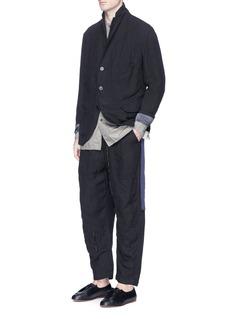 Ziggy ChenHem underlay linen hopsack soft blazer