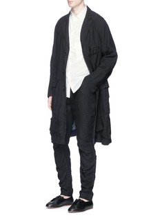 Ziggy ChenPatchwork linen coat
