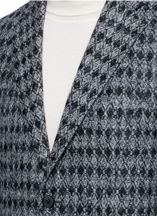Detail View - Click To Enlarge - Tomorrowland - Diamond jacquard Ferla alpaca-wool soft blazer