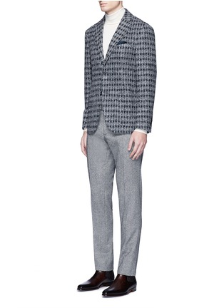 Figure View - Click To Enlarge - Tomorrowland - Diamond jacquard Ferla alpaca-wool soft blazer