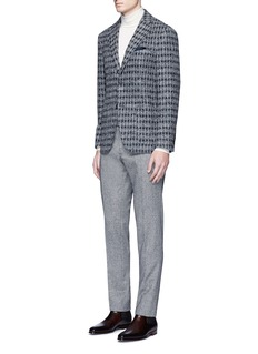 TomorrowlandDiamond jacquard Ferla alpaca-wool soft blazer