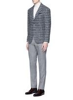 Diamond jacquard Ferla alpaca-wool soft blazer