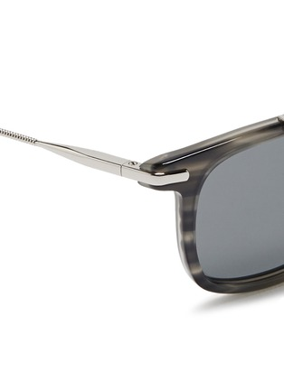 Lanvin - Herringbone chain temple tortoiseshell acetate square sunglasses