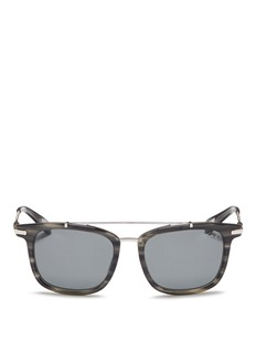 Lanvin Herringbone chain temple tortoiseshell acetate square sunglasses