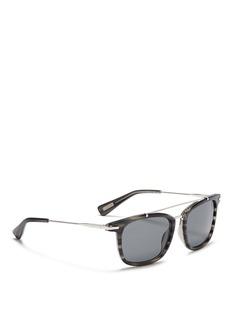 LanvinHerringbone chain temple tortoiseshell acetate square sunglasses