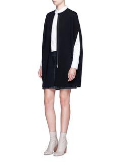 Theory'Jonora' zip front wool knit cape