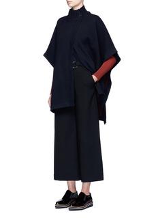 Theory'Palomina B' reversible wool blend poncho