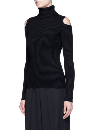 Front View - Click To Enlarge - Theory - 'Jemless' cold shoulder turtleneck sweater