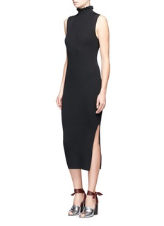 Theory'Hedrisa' ruffle turtleneck rib knit dress