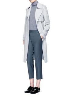 Theory'Leendelle' button turtleneck Merino wool knit vest