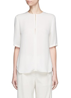 Theory 'Antazie' silk georgette boxy top