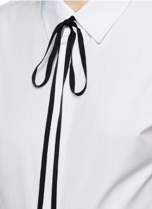 Theory - 'Anesha' ribbon neck tie cotton shirt