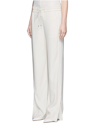 Front View - Click To Enlarge - Theory - 'Jolinta W' elastic wide leg crepe pants