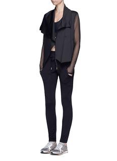 Alala'Sophisticate' mesh sleeve scuba jersey jacket