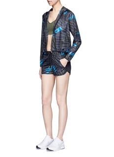 Alala'Bolt Stripe' print cropped zip jacket