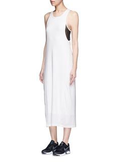 AlalaMesh panel cotton blend tank dress