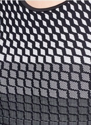 Detail View - Click To Enlarge - KORAL - 'Submerge' grid jacquard performance tank top